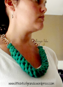 Chunky Braid T-Shirt Necklace | Little Bits of Granola