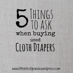 5 Things to Ask When Buying Used Cloth Diapers