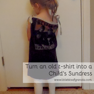 Turn an old T-shirt into a Child's Sundress