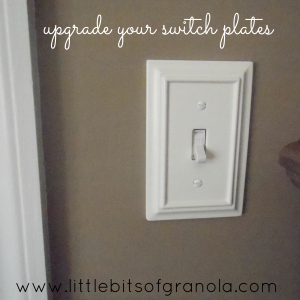 5 Easy and Budget-Friendly Ways to Give a Room a Facelift Without Painting -- Upgrade Your Switchplates! - by Little Bits of Granola