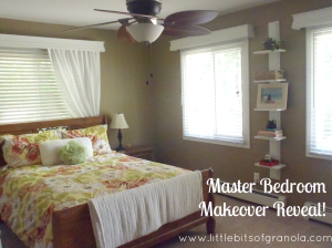 Master Bedroom Makeover Reveal - by Little Bits of Granola