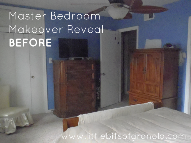 Master Bedroom Reveal Before 1 - by Little Bits of Granola