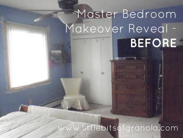 Master Bedroom Reveal Before 2 - by Little Bits of Granola