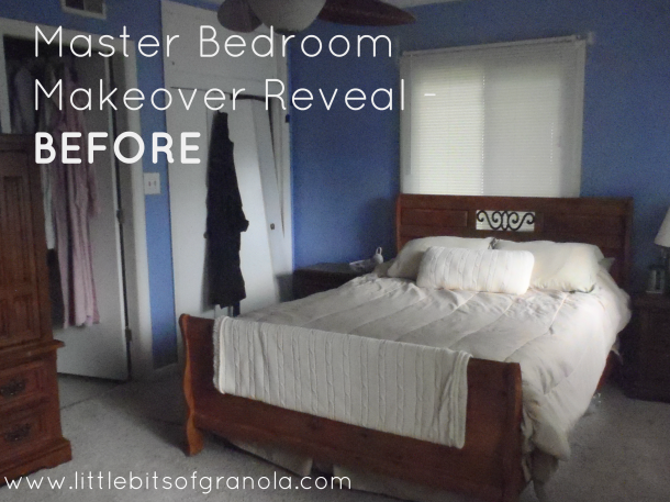 Master Bedroom Reveal Before - by Little Bits of Granola