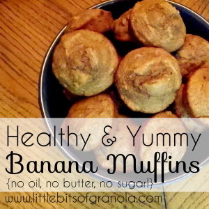 Healthy and Yummy Banana Muffins