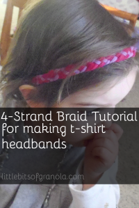 How to make a 4-strand braid for t-shirt headbands