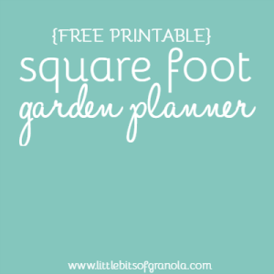 Free Printable Square Foot Garden Planner