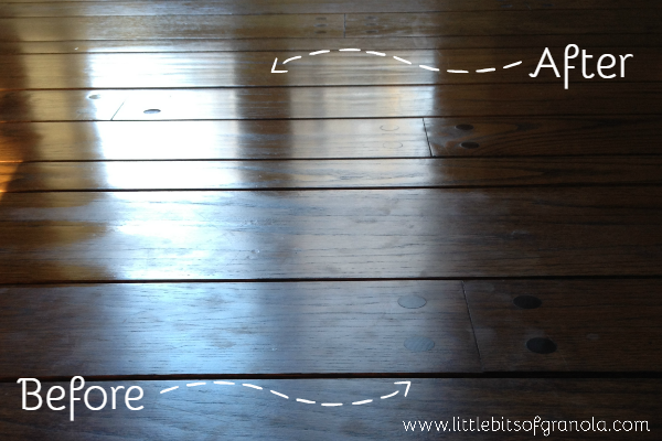Simple Recipes to Clean and Polish your Wood Floors with All-Natural Ingredients - by Little Bits of Granola