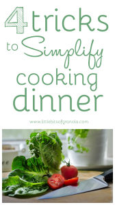 Weeknight dinners can get stressful for busy families!  Make things easier with these simple tricks.